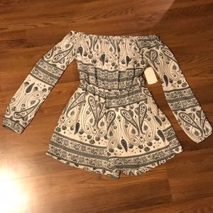 Missguided Patterned Romper